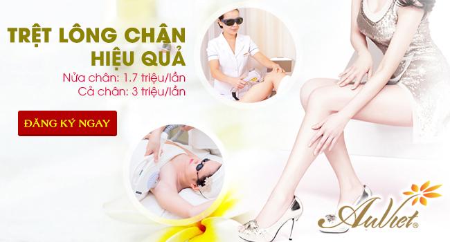 Triệt lông chân bằng công nghệ New E-Light tại thẩm mỹ viện Âu Việt